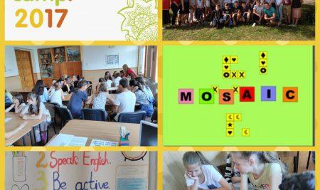 """Вітаємо з початком роботи мовний табір """"Mosaic"""""""